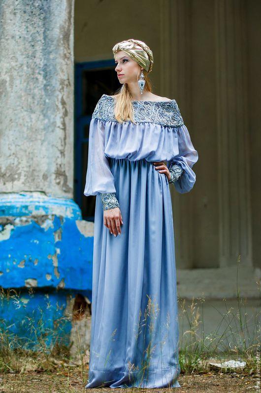 """Платья ручной работы. Ярмарка Мастеров - ручная работа. Купить Платье """"Таис"""". Handmade. Crazy-wool, серый, дизайнерская одежда"""