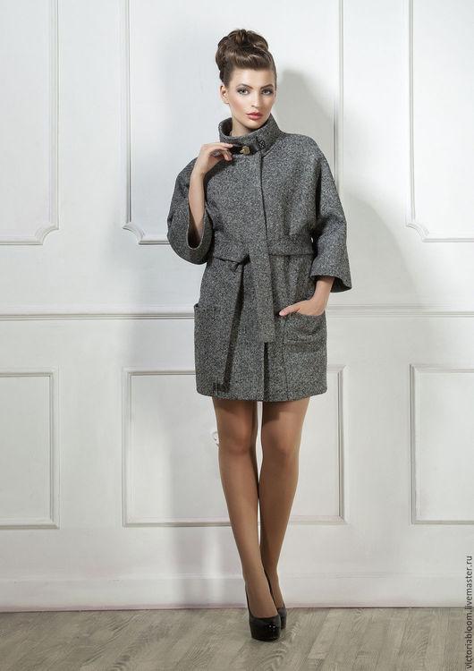 Верхняя одежда ручной работы. Ярмарка Мастеров - ручная работа. Купить Пальто с карманами на поясе. Handmade. Однотонный, пальто из шерсти