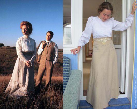 Юбка сшита по мотивам юбки главной героини сериала  Энн из поместья `Зеленые Крыши`