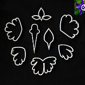 Материалы для творчества handmade. Livemaster - original item Cutter the petals and leaves of Aquilegia (drip pan), plastic. Handmade.