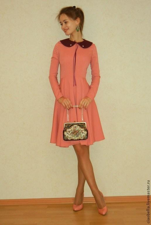 """Платья ручной работы. Ярмарка Мастеров - ручная работа. Купить Платье """"Parisian Chic"""". Handmade. Кремовый, нарядное платье, вискоза"""