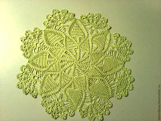Текстиль, ковры ручной работы. Ярмарка Мастеров - ручная работа. Купить Салфетка зеленая (ажурная). Handmade. Ярко-зелёный