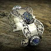 """Украшения ручной работы. Ярмарка Мастеров - ручная работа """"Английский сад"""" серебряный винтажный браслет лэмпворк. Handmade."""
