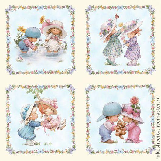 Шитье ручной работы. Ярмарка Мастеров - ручная работа. Купить Ткань Детки для пэчворка и шитья с компаньоном. Handmade. Разноцветный, дети