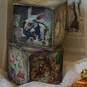 Подарки к праздникам handmade. Livemaster - original item Oh, Alice - dice-cards. Handmade.
