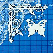 Материалы для творчества handmade. Livemaster - original item chipboard corner with butterfly 02-260. Handmade.