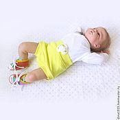 Работы для детей, ручной работы. Ярмарка Мастеров - ручная работа пинетки кеды, кеды вязаные, оранжевый, желтый, фиолетовый, мятный. Handmade.