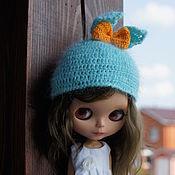 Куклы и игрушки ручной работы. Ярмарка Мастеров - ручная работа Шапочка  для куклы Блайз. Handmade.