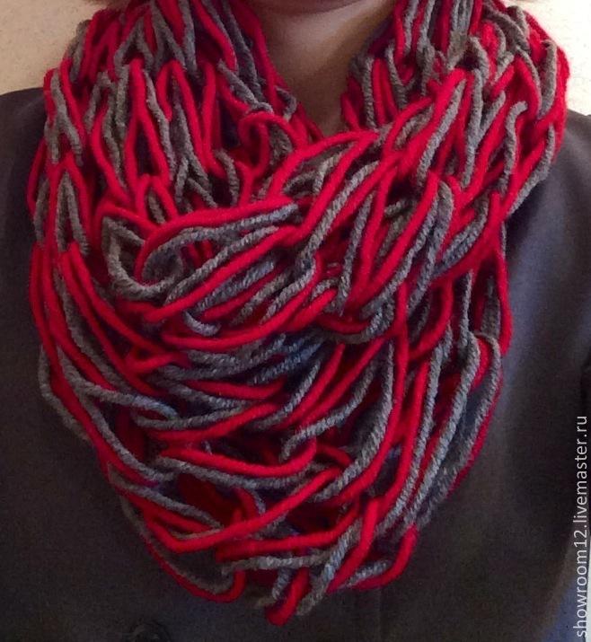 Как связать легко шарф хомут