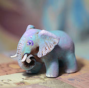 Мягкие игрушки ручной работы. Ярмарка Мастеров - ручная работа Слон, папье маше, ёлочая игрушка. Handmade.