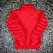 Одежда handmade. Livemaster - original item Sweater knitted red (№645). Handmade.