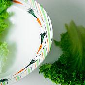 Посуда handmade. Livemaster - original item Cheerful carrots ) Deep plate, handmade ceramics.. Handmade.
