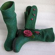 Обувь ручной работы handmade. Livemaster - original item Boots felted Forest fairy. Handmade.