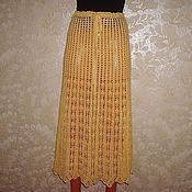 Одежда ручной работы. Ярмарка Мастеров - ручная работа Юбка желтого цвета. Handmade.