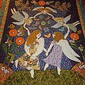 """Для дома и интерьера ручной работы. Ярмарка Мастеров - ручная работа Одеяло """"Танец ангелов"""". Handmade."""