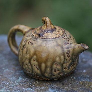 """Посуда ручной работы. Ярмарка Мастеров - ручная работа Чайник для пуэра """"Дикий янтарь"""". Зольный обжиг. Handmade."""