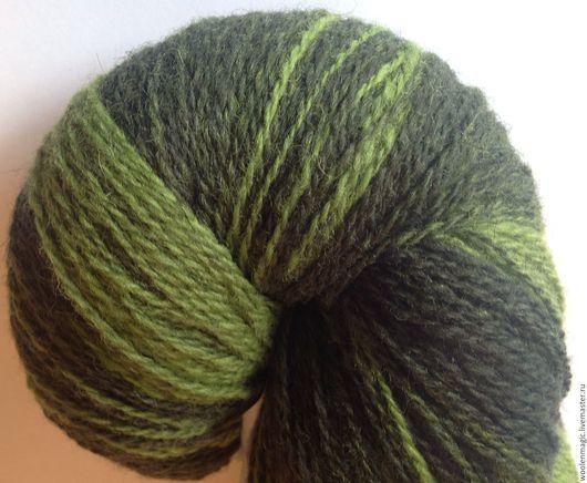 Вязание ручной работы. Ярмарка Мастеров - ручная работа. Купить КАУНИ  Green 8/2   - 100% шерсть.. Handmade. Зеленый