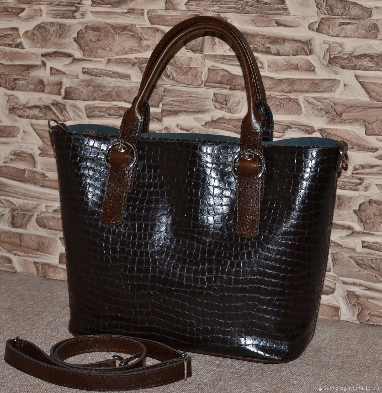 Leather bag bag made of genuine leather, the Model 142, Classic Bag, Bogorodsk,  Фото №1