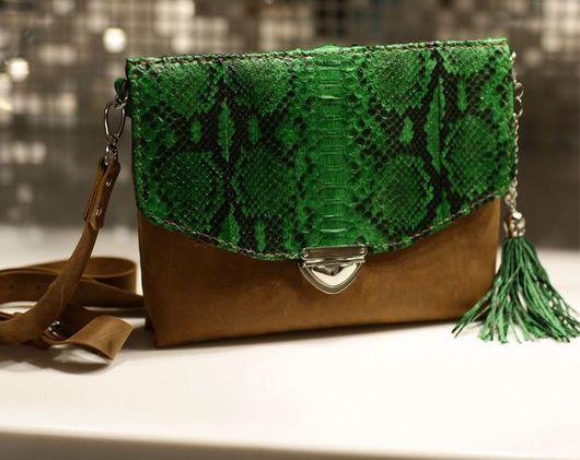 Женские сумки ручной работы. Ярмарка Мастеров - ручная работа. Купить Зелененькая. Handmade. Сумка ручной работы, сумка зеленая