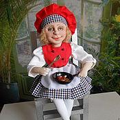 Куклы и игрушки handmade. Livemaster - original item GIRL COOK textile doll. Handmade.