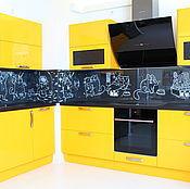 Дизайн и реклама handmade. Livemaster - original item Painting the walls in the apartment, kitchen apron.. Handmade.