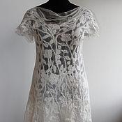 Одежда ручной работы. Ярмарка Мастеров - ручная работа Платье валяное  White flowers. Handmade.