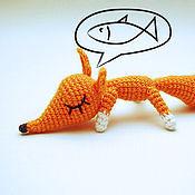 Мягкие игрушки ручной работы. Ярмарка Мастеров - ручная работа Лисичка в мечтах малая. Handmade.