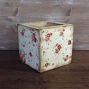 """Для дома и интерьера ручной работы. Ярмарка Мастеров - ручная работа Ящик/ коробка деревянная """"Шебби"""". Handmade."""