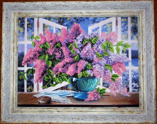Картина бисером `Дыхание весны`. Ольга Ляшевская (mylinetta)