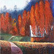 Картины и панно handmade. Livemaster - original item Painting landscape Autumn on a farm oil painting. Handmade.
