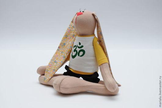 Куклы Тильды ручной работы. Ярмарка Мастеров - ручная работа. Купить Зайки йоги. Handmade. Зайка, подарок на день рождения