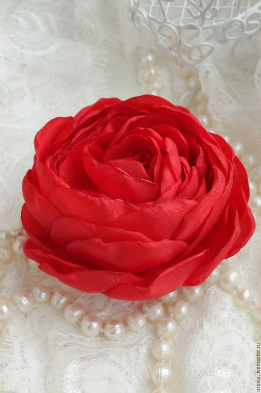 """Заколки ручной работы. Ярмарка Мастеров - ручная работа. Купить Заколка с цветком """"Фламенко"""". Handmade. Ярко-красный, танец, кармен"""
