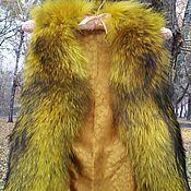 Одежда ручной работы. Ярмарка Мастеров - ручная работа Жилетка меховая из енота. Осенний листопад.. Handmade.