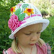 Работы для детей, ручной работы. Ярмарка Мастеров - ручная работа детская шапочка-цветочная клумба. Handmade.