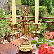 Винтаж handmade. Livemaster - original item Brass candelabra for 2 candles.France.. Handmade.