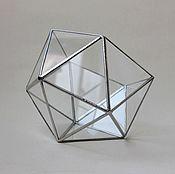 Цветы и флористика handmade. Livemaster - original item The Floriana. Geometric icosahedron Floriana silver. Handmade.
