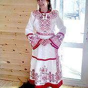 Русский стиль ручной работы. Ярмарка Мастеров - ручная работа Платье сказочное, праздничное, свадебное. Handmade.