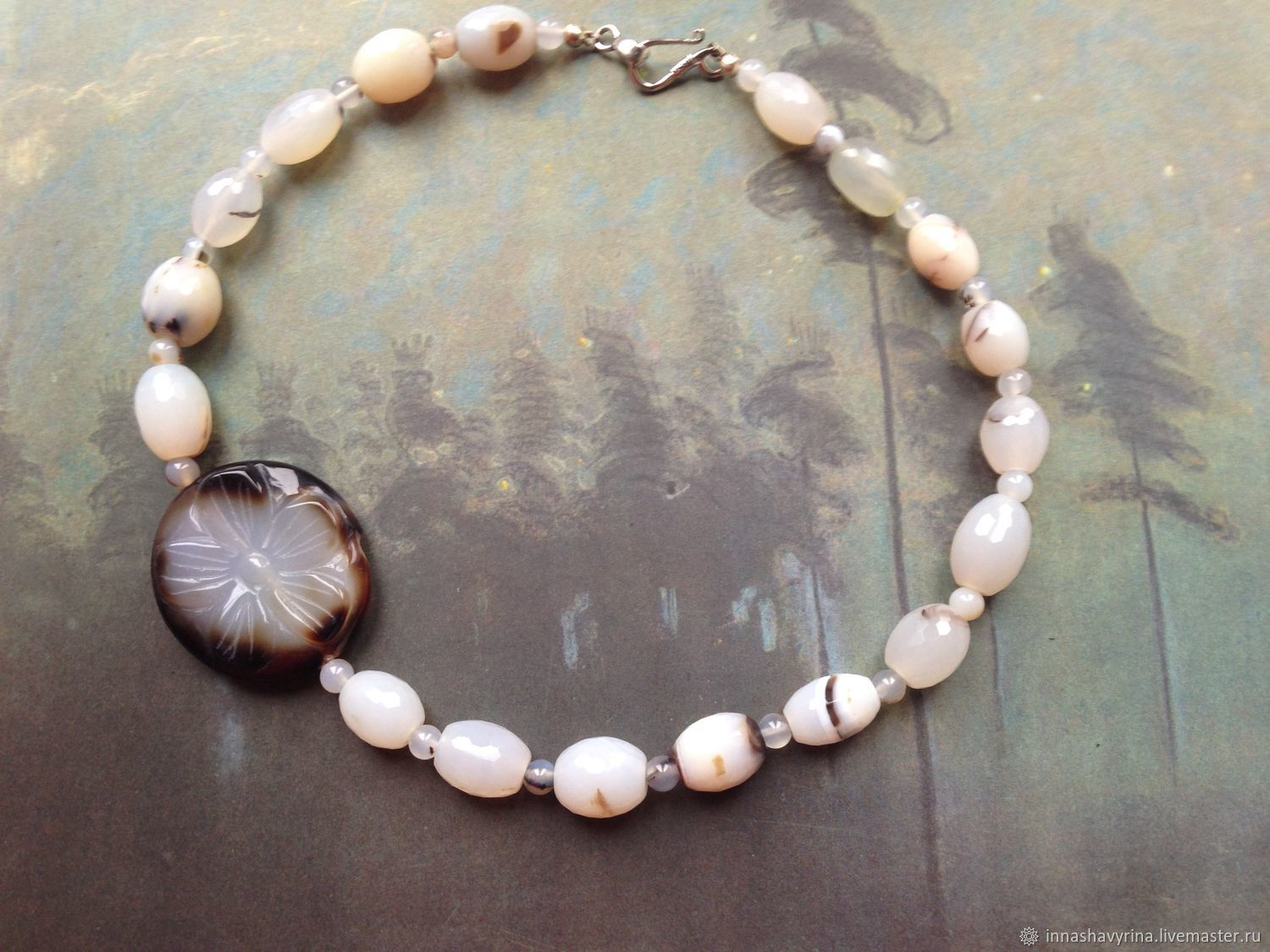 Girls. Agate necklace, Necklace, St. Petersburg,  Фото №1