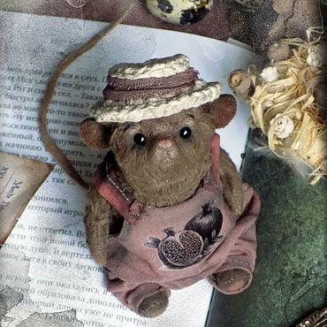 Куклы и игрушки ручной работы. Ярмарка Мастеров - ручная работа Мистер Гарденмаус, мышь, крыса Тедди. Handmade.