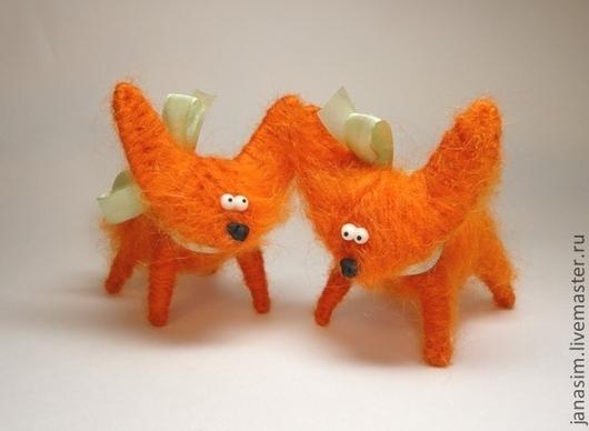Игрушки животные, ручной работы. Ярмарка Мастеров - ручная работа. Купить Лисята. Handmade. Рыжий, игрушка из пряжи