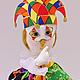 Сказочные персонажи ручной работы. Ярмарка Мастеров - ручная работа. Купить кукла Арлекин. Handmade. Кукла, кукла ручной работы