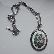 Винтаж handmade. Livemaster - original item Vintage Flower Chain Pendant Sarah Coventry USA. Handmade.