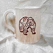 Посуда handmade. Livemaster - original item Mug Bear. Handmade.
