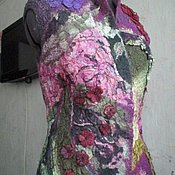Одежда ручной работы. Ярмарка Мастеров - ручная работа Сиреневый жилет. Handmade.