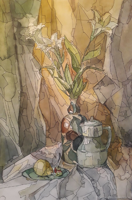 Натюрморт с лилиями, Картины, Тольятти,  Фото №1