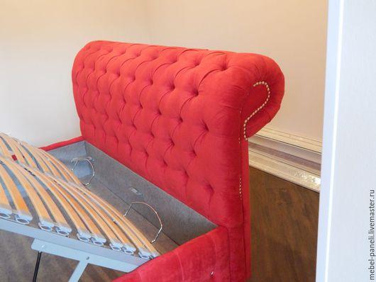Мебель ручной работы. Ярмарка Мастеров - ручная работа. Купить Кровать с изголовьем.. Handmade. Мебель на заказ, изголовье кровати, дизайн