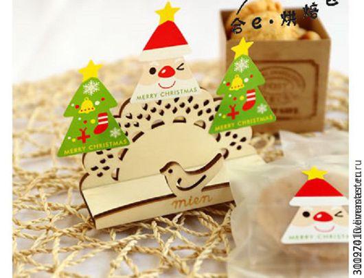 Упаковка ручной работы. Ярмарка Мастеров - ручная работа. Купить Наклейки новогодние , большие. 24 шт. на листе.. Handmade. Комбинированный