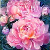 Картины и панно handmade. Livemaster - original item Painting with peonies oil on canvas