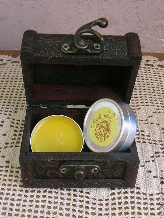 Масла и смеси ручной работы. Ярмарка Мастеров - ручная работа. Купить Воск для полировки дерева/кожи. Handmade. Желтый, лаванда