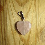 Украшения handmade. Livemaster - original item Rose quartz heart pendant. Handmade.